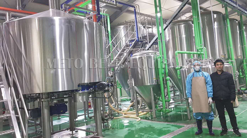 After-Sale Service to 3000L brewery in Korea,trainning and installation.