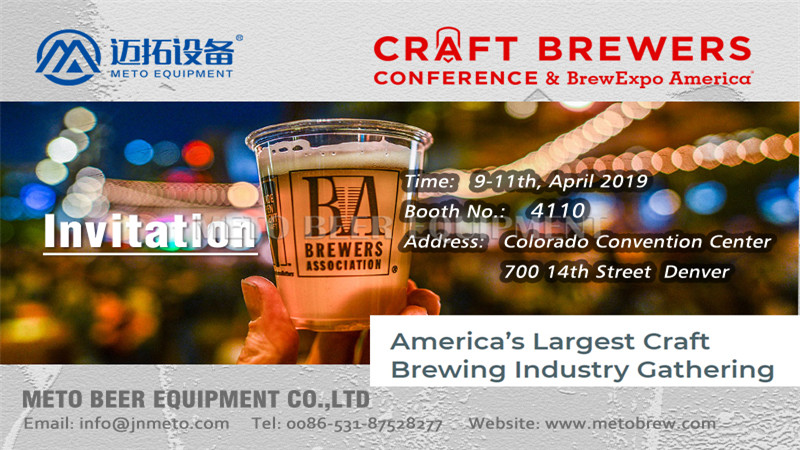 METO Brewery Invite you join in Craft Brewers & BrewExpo America in Denver