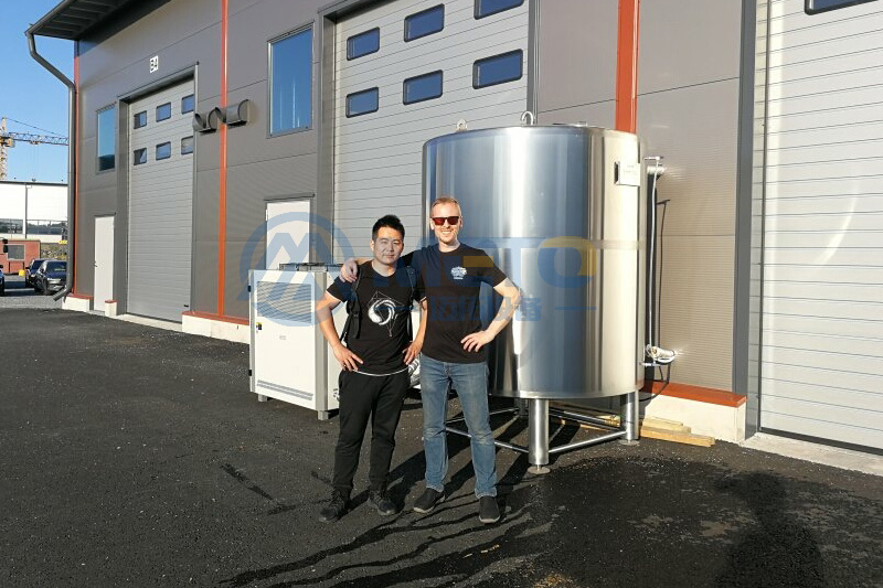 Installed 1000L beer brewery for Finnish customer