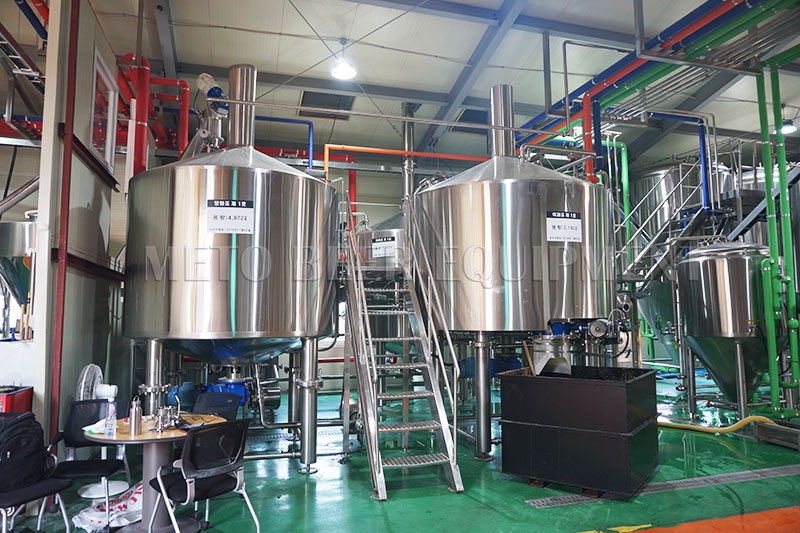3500L Turnkey brewery Project For Korean Customer