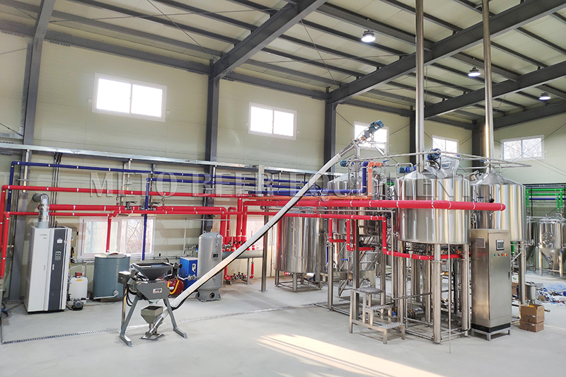 1000L beer equipment customized for Korean friends has been installed